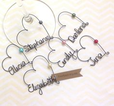6 Personalized Wine Charms Wedding Favor Gl Bridal Shower