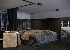 ATELIER RUE VERTE , le blog: Russie / Du noir pour un studio de 24 m² bien pensé /