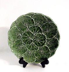 Vintage Majolica Plate  Majolica Decorative by happenstanceNwhimsy