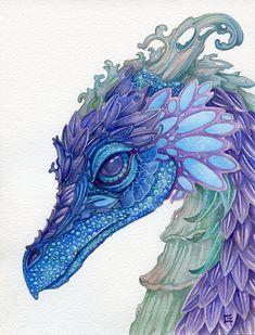 Cute Drawings, Drawing Sketches, Art Fantaisiste, Wild Iris, Dragons, Sell My Art, Dragon Artwork, Creature Drawings, Love Painting