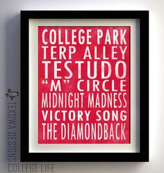 College Park Maryland Subway Scroll Art Print by texowadesigns, $25.00