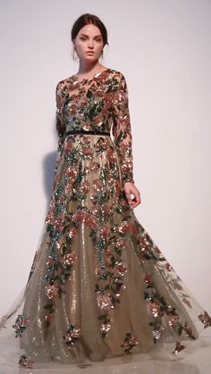 Andrea & Leo Couture SAVANNAH GOWN – Expolore the best and the special ideas about Elie saab Frock Fashion, Indian Fashion Dresses, Indian Gowns Dresses, Pakistani Bridal Dresses, Prom Dresses, Formal Dresses, Formal Gowns With Sleeves, Evening Gowns With Sleeves, Walima Dress