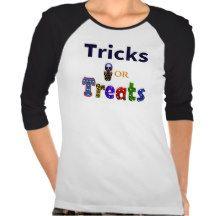 Tricks or Treats 3/4 Sleeve Raglan Tees