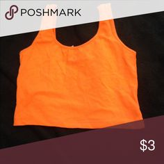 Basic orange crop top Never worn! No tags though. Tops Crop Tops