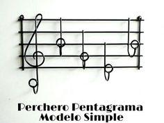 Perchero Musical Pentagrama, Artesanal, Muy Original!!! - $ 390,00