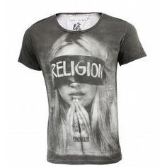 RELIGION CLOTHING BLIND FOLD T SHIRT BLACK