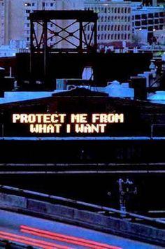 """Jenny Holzer-""""Protect me"""""""