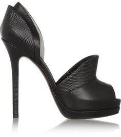 Time to party in these Fendi Textured-leather and leather pumps!