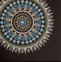Best 12 A new piece I just finished. Mandala Art Therapy, Mandala Art Lesson, Mandala Drawing, Mandala Canvas, Mandala Artwork, Mandala Painting, Mandala Painted Rocks, Mandala Rocks, Dot Art Painting
