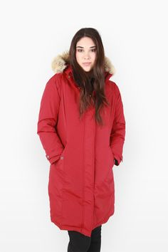 Penfield - Ellston Red Cold Weather Gear, Raincoat, Red, Jackets, Women, Fashion, Rain Jacket, Moda