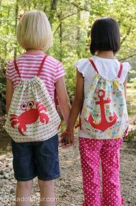 Simple Summer Backpack Sewing Pattern. The crab will be the perfect go-along craft for A House for Hermit Crab.