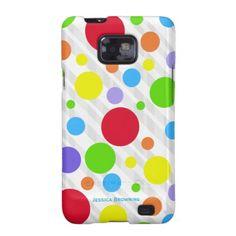 Colorful Polka-dot: Samsung Galaxy 2 Case Samsung Galaxy S2 Cases
