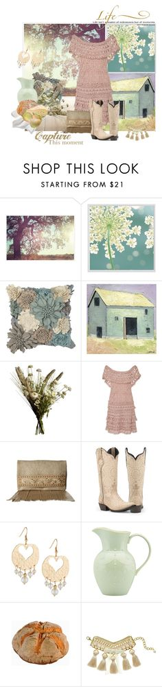 """""""Farm-made Happiness"""" by valeria-mezhevikina ❤ liked on Polyvore featuring Pottery Barn, Ethan Allen, Abigail Ahern, Vanessa Montoro, American West, Emily & Ashley, WALL, Lenox, Margot & Me and rustic"""