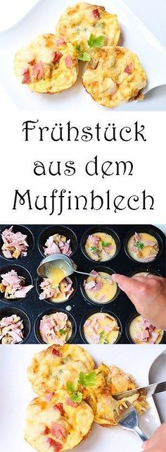 Breakfast from the muffin tin + video - Mama Kreativ Best Picture For breakfast and brunch recipes F Breakfast Party, Breakfast Buffet, Breakfast Muffins, Breakfast Casserole, Breakfast Recipes, Brunch Buffet, Breakfast Ideas, Omelette Muffins, Frozen Breakfast