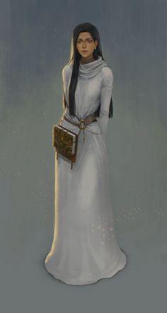 Female scholar/preceptor