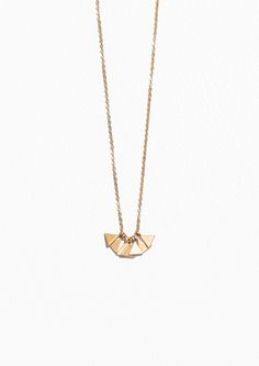 & Other Stories | Mini Triangle Necklace in Gold