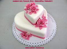 Funny Wedding Cakes, Beautiful Wedding Cakes, Beautiful Cakes, Sweet Birthday Cake, Birthday Cake For Husband, Anniversary Cake Designs, Wedding Anniversary Cakes, Heart Shaped Wedding Cakes, Heart Shaped Cakes