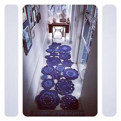 #crochet mandala rugs in the hallway - Meet Anneke from CrochetInPaternoster