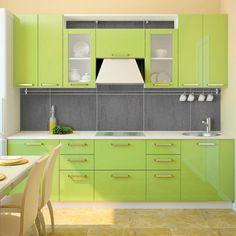 Home Discount Designer Brands - Up to off - BrandAlley Kitchen Room Design, Kitchen Interior, Free Standing Kitchen Units, Kitchen Seating, Cupboard Design, Kitchen Furniture, Furniture Design, Green Kitchen, Kitchen Cupboards