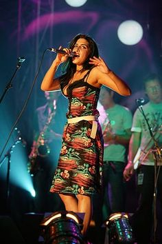 Amy Winehouse: Amy performs at the Mercury Awards in 2004
