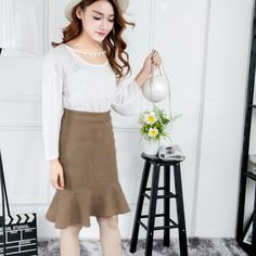 Find More Skirts Information about Suede Leather Ruffles Pencil Women Skirt High Waist Solid Pink Faux Leather 2017 Spring Summer Fashion Casual Female Short Skirt,High Quality leather skirts,China leathere Suppliers, Cheap leather skirts plus size from AZULINA Store on Aliexpress.com