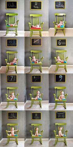 Fotos para registrar o crescimento do bebê   Macetes de Mãe