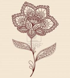 Image result for flower with stem tattoo outline