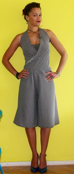 Video Tutorial: How To Make a DIY Culotte Jumpsuit Check it out here https://www.youtube.com/watch?v=EezhwcY79rQ