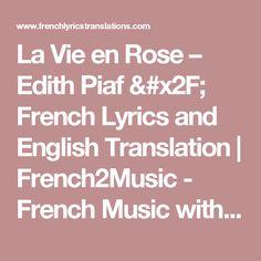 Alizee jen ai marre lyrics frenchenglish translation one of la vie en rose edith piaf french lyrics and english translation french2music stopboris Gallery