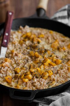 Vegan Farro Risotto with Walnut Cream and Roasted Butternut Squash