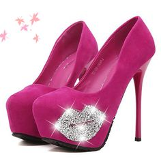Trendy High Heels For Ladies : Fuchsia heels ✿⊱╮ Pink Shoes, Hot Shoes, Shoes Heels, Sexy Heels, Stiletto Heels, High Heels, Luis Pasteur, Girly, Kinds Of Shoes