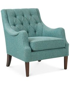 Image 1 of Glenis Tufted Accent Chair, Quick Ship