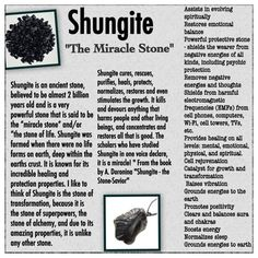 "The Extremely Powerful Stone SHUNGITE One of the most powerful healing stones ever discovered. Shungite cures, rescues, purifies, heals, protects, normalizes, restores and even stimulates the growth. It kills and devours anything that harms people and other living beings, and concentrates and restores all that is good. The scholars who have studied Shungite in one voice declare, it is a miracle! "" From the book by A. Doronina ""Shungite - the Stone-Savior"" Healing Stones And Crystals Jewelry"