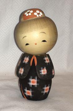 Kokeshi Japanese Wood Doll, Stamped | eBay