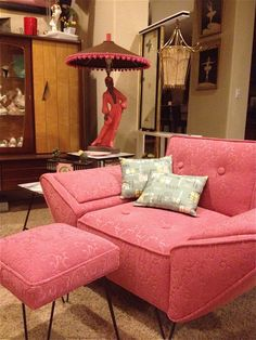 For lounging mid-century style