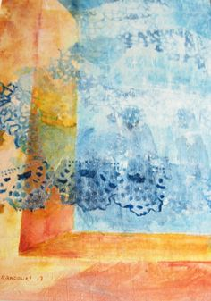 Abstract Window Painting. Abstract lace by CecileRancourtArt