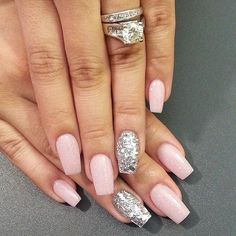Pin for Later: 31 Real Girls Show Off Their Gorgeous Bridal Manicures Pink Rocks