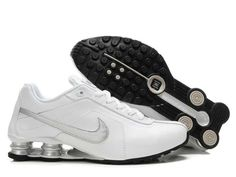 deb442998af4 Shox Nike Shox Velcro White Silver  Nike Shox - White gives a person warm  feeling
