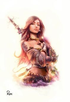 fantasy art warrior