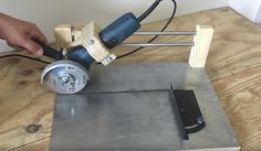 in this video i'll be building an angle grinder sliding cutting jig. A great jig for straight and easy cuts! for sheet metal, tile and all metals. Homemade Tools, Diy Tools, Wood Rat, Angle Grinder Stand, Metal Bending Tools, Table Saw Jigs, Jet Woodworking Tools, Horseshoe Art, Metal Working