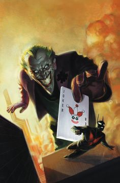 Drawing Dc Comics DC Comics' November solicitations reveal the first good look at Batman Beyond's Joker. Batman Beyond Joker, Joker Dc, Joker And Harley, Harley Quinn, Dc Comics Art, Batman Comics, Batman Art, Character Drawing, Comic Character
