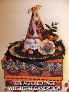 Altered Halloween Treat Box!! Created By Angela Holt from The Altered Page http://thealteredpage.ning.com/