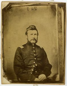 Portrait of John M. Sell, ca. 1861. Sell enlisted in the 83rd Regiment of the Pennsylvania Volunteers July 29, 1861. He was commissioned First Lieutenant on August 27 and promoted to Captain on September 4 the following year. Captain Sell was struck in the left leg by a solid shot at Gettysburg on July 2, 1863, and died from effects of amputation the next day. Civil War Narratives.