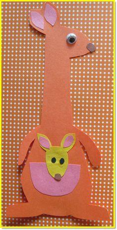 kangaroo crafts - Google Search                                                                                                                                                                                 More