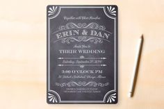 A Chalkboard Marriage Wedding Invitations - via minted.com