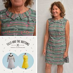 Leslie's Francoise dress in Cotton + Steel fabric