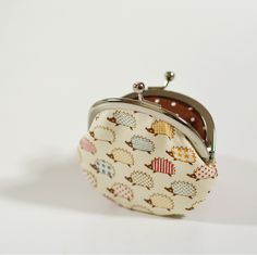 Clasp+Change+Purse+Kawaii+Hedgehog+Coin+Purse+by+fieldofroses,+$16.00