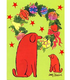 Andy Warhol's Holiday Dog Card Set $14