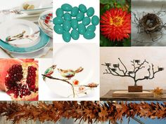 Fall tablescape inspiration board from @harveydesignsevents  using Lenox Chirp casual dinnerware