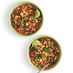 White Bean and Hominy Chili | MyRecipes.com #myplate #protein #vegetable